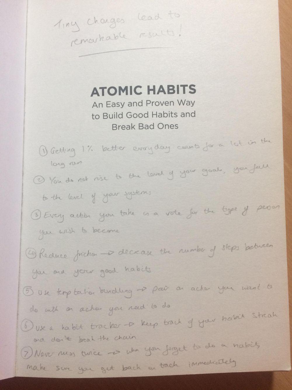 Atomic Habits - image 1 - student project