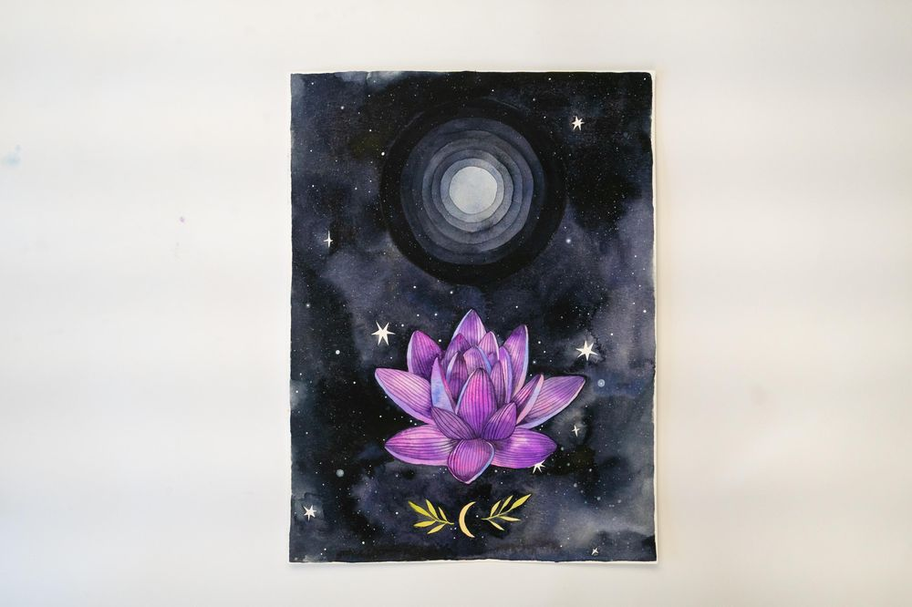 Sample Project: Watercolor + Gouache + Acrylic - image 7 - student project
