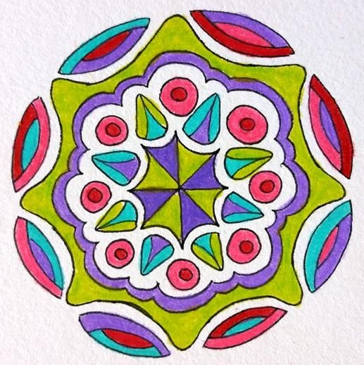 Random Mandalas - image 4 - student project