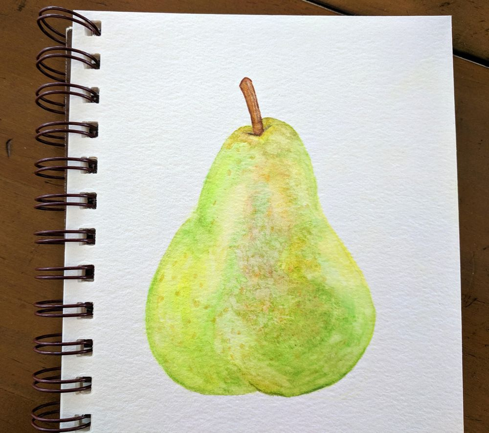 Loose Mixed Media - Pear - image 1 - student project