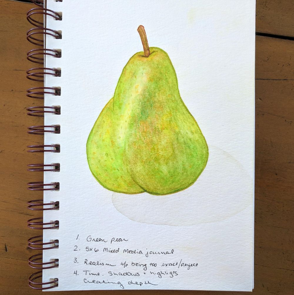 Loose Mixed Media - Pear - image 2 - student project