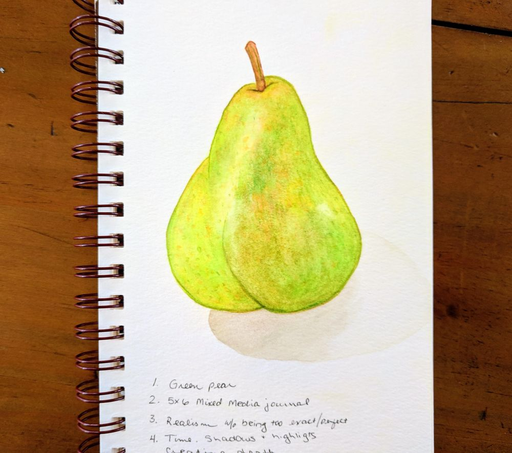 Loose Mixed Media - Pear - image 3 - student project