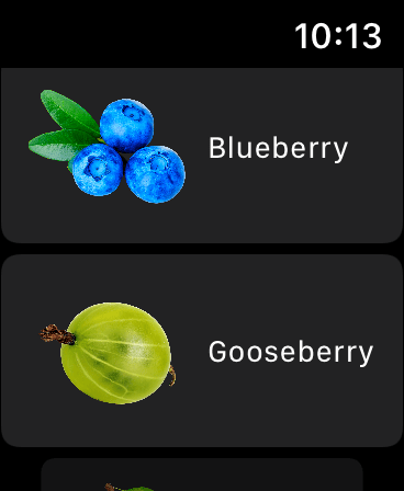 Fructus on Apple Watch - image 4 - student project