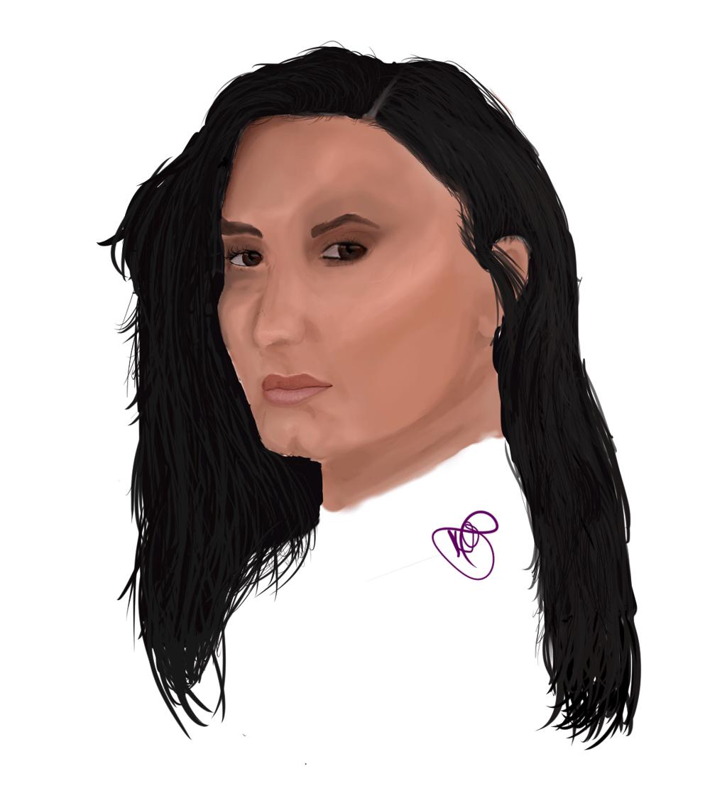 Demi lovato.  My first digital portrait - image 1 - student project