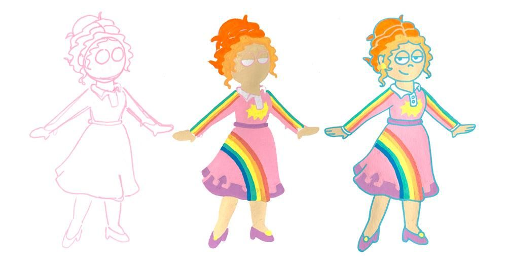 Miss Frizzle in Posca! - image 2 - student project