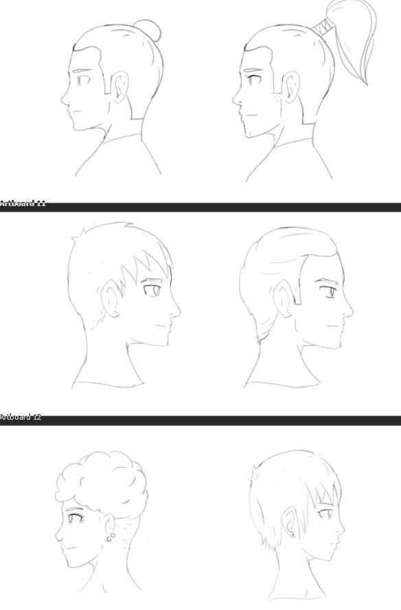 Profile Face Study - image 4 - student project