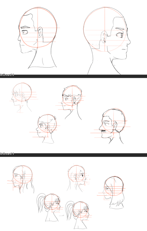 Profile Face Study - image 3 - student project