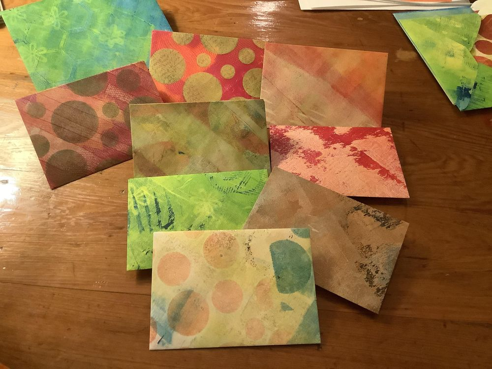 Lucie's Little Envelopes class ... so much fun! - image 2 - student project