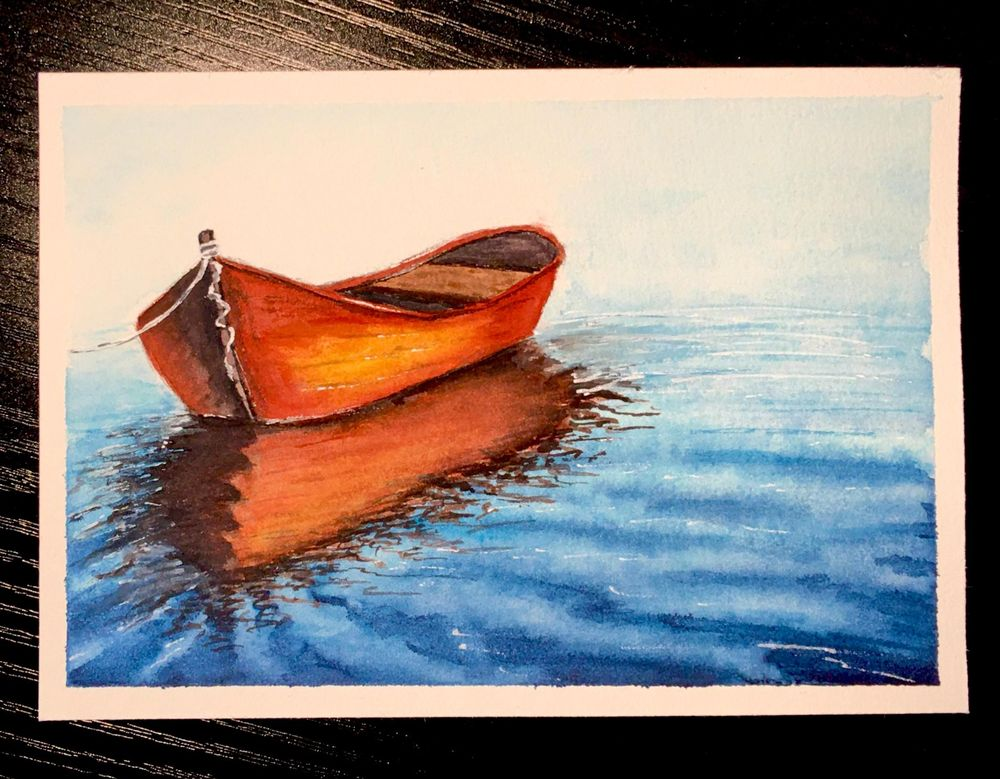Watercolour Seascapes - image 2 - student project