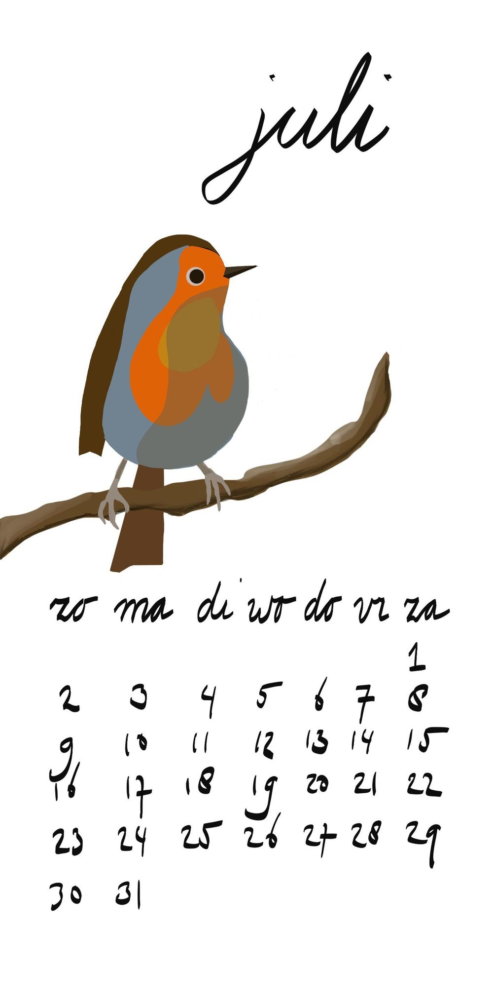 Robin in juli - image 1 - student project