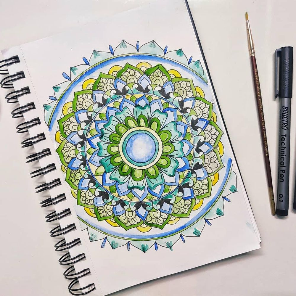Watercolor Mandala Project - image 1 - student project
