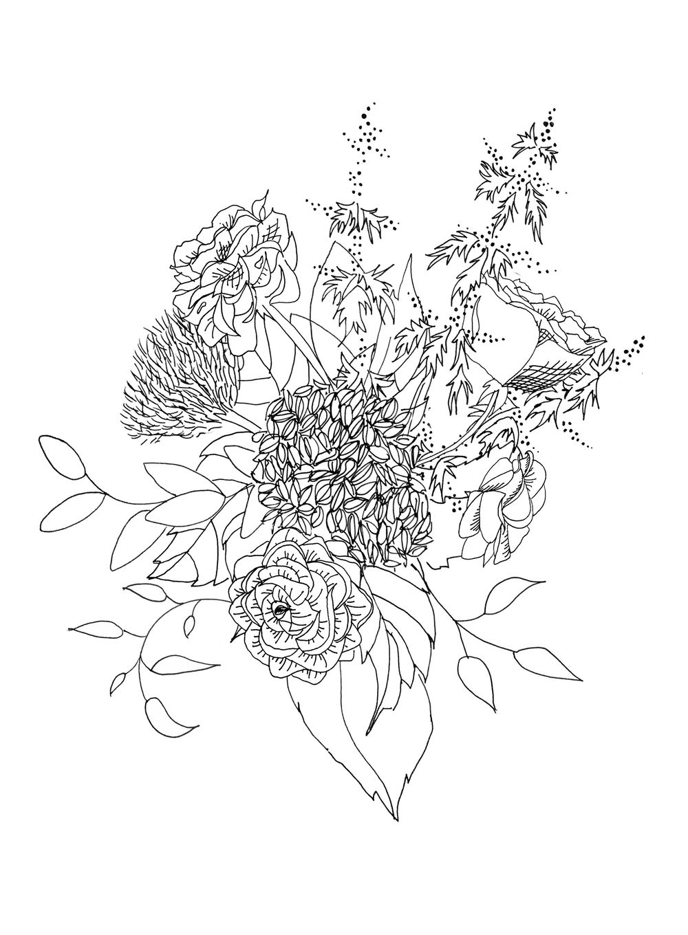 Dramatic Hydrangea and Ranunculus - image 5 - student project