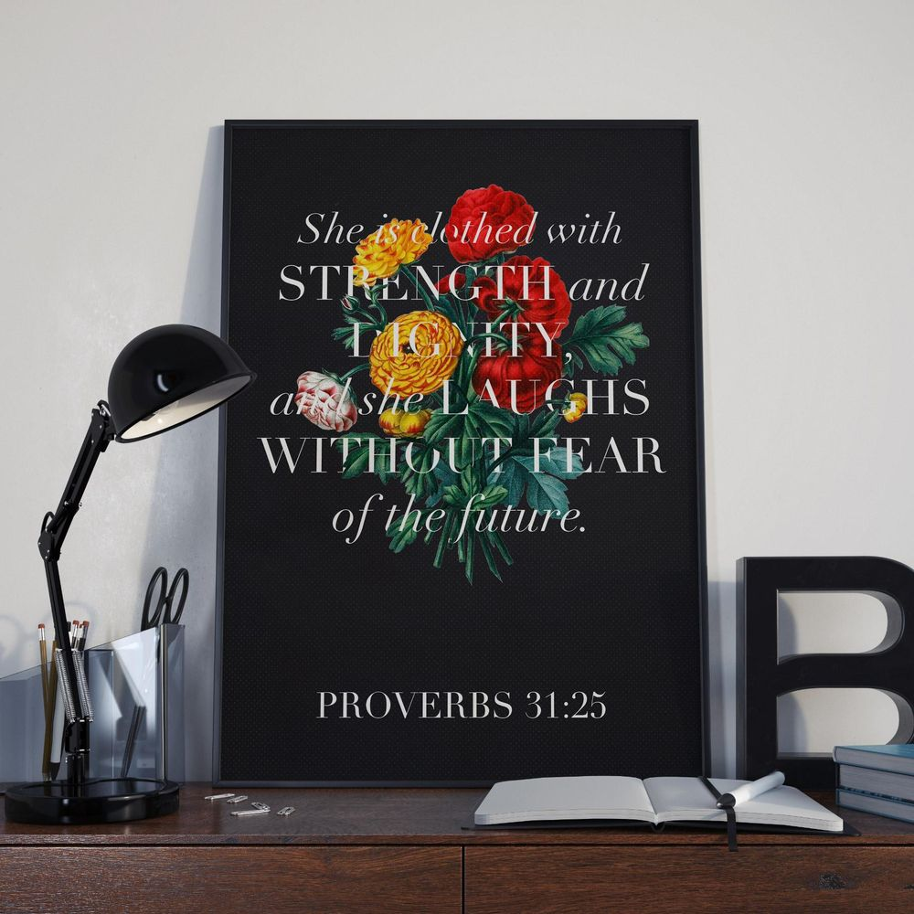 Proverbs 31:25 - image 4 - student project
