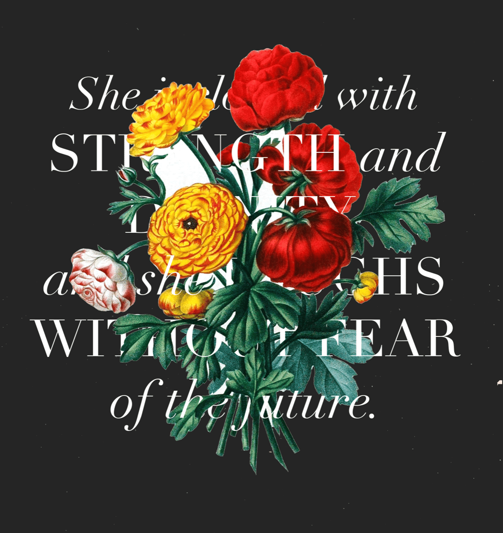Proverbs 31:25 - image 2 - student project
