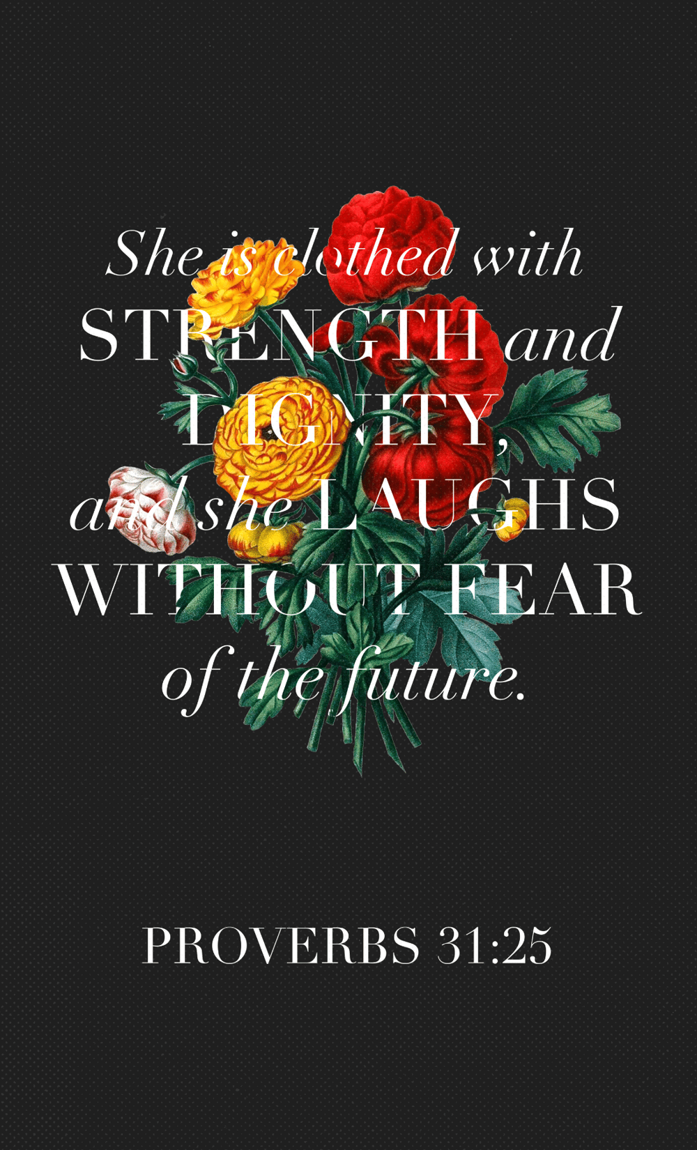 Proverbs 31:25 - image 3 - student project