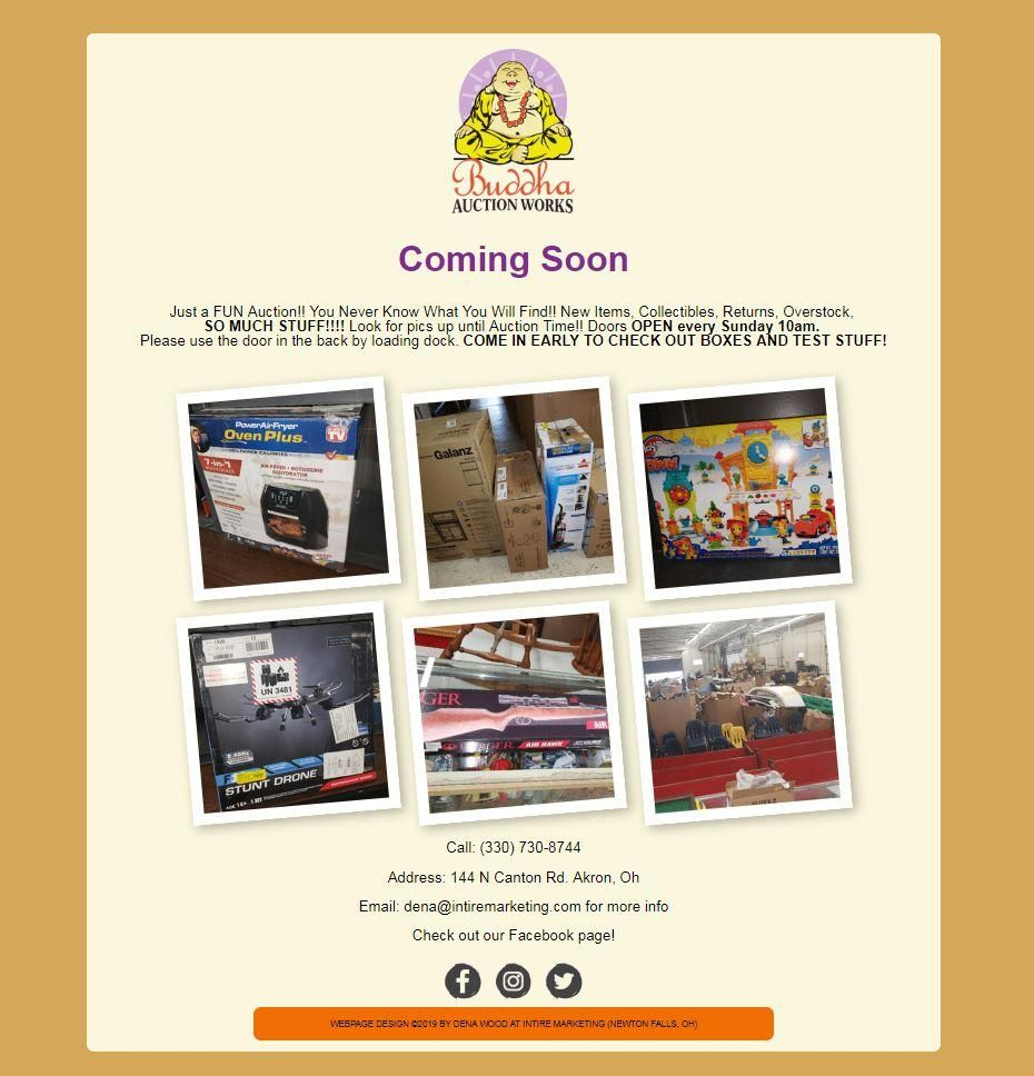 Sample webpage: Buddha Auction Works - image 1 - student project