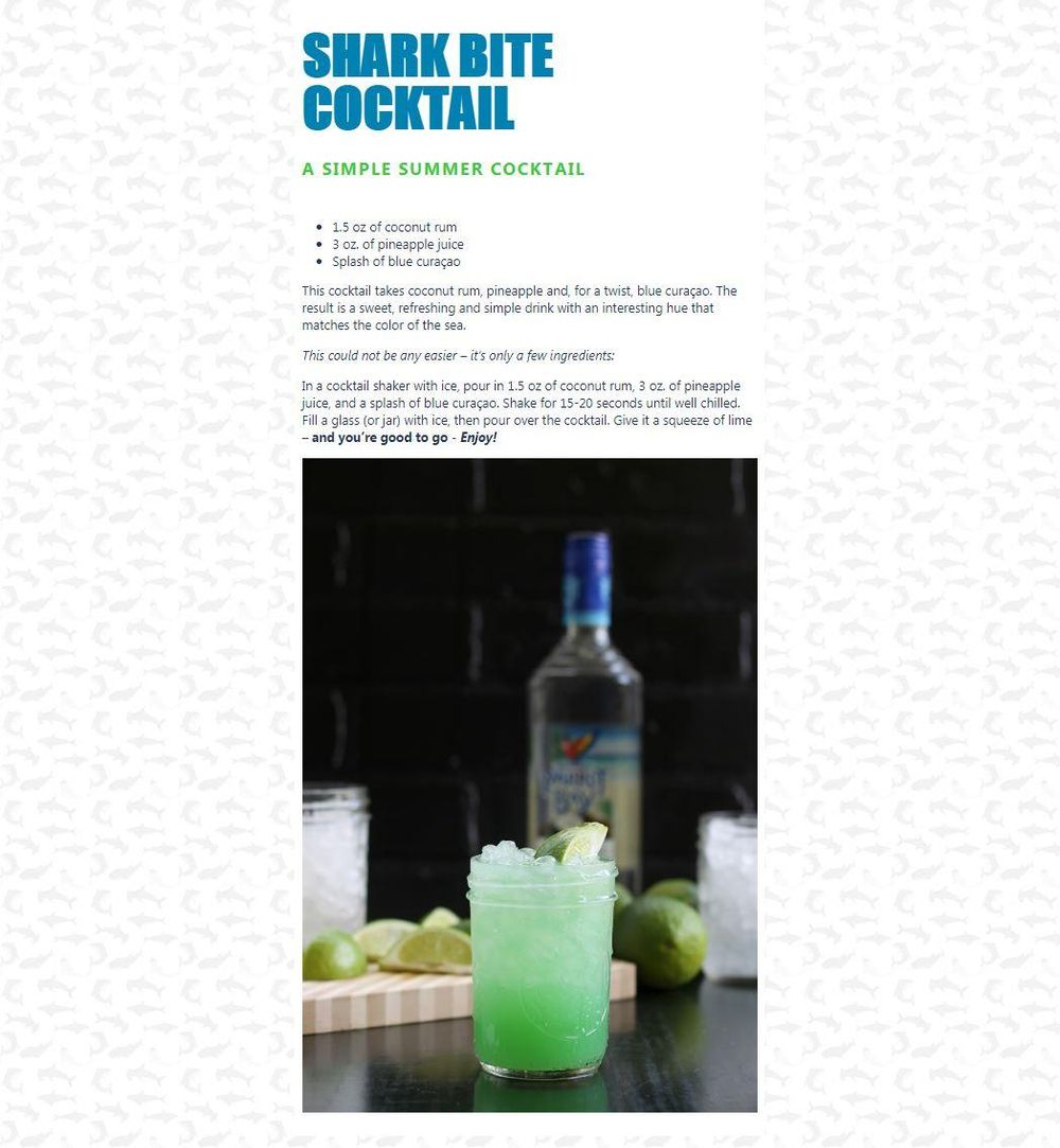 Shark Bite Cocktail project - image 1 - student project