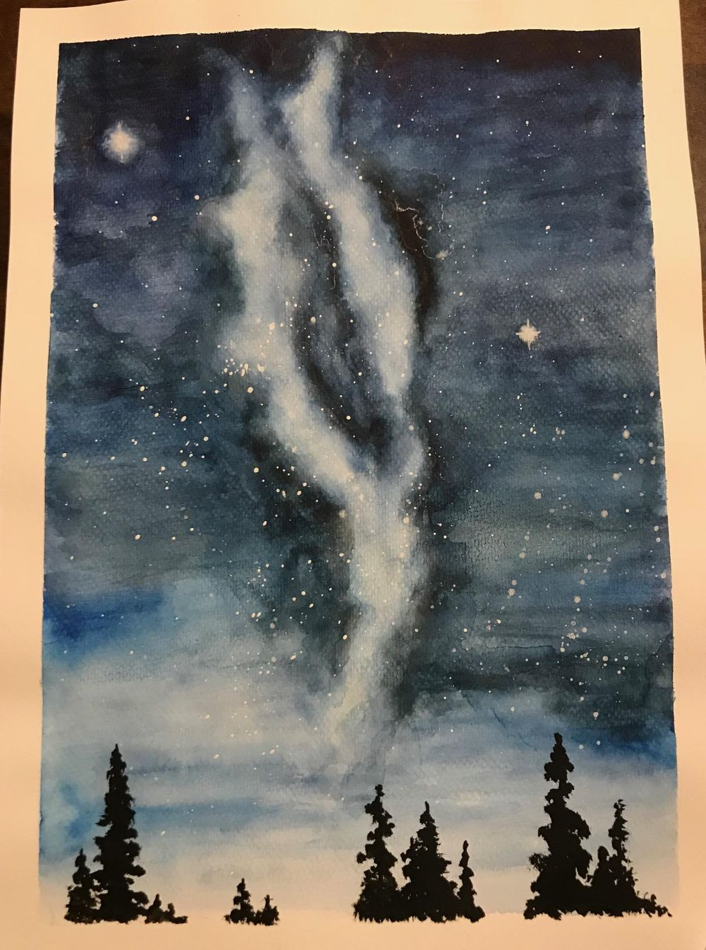 Learning to paint the Milky Way night sky - image 1 - student project