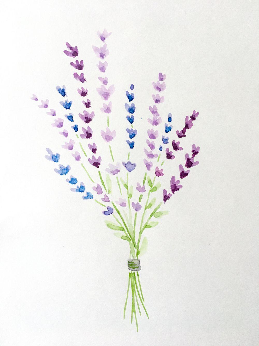 Blue flowers & lavender bouquet - image 1 - student project