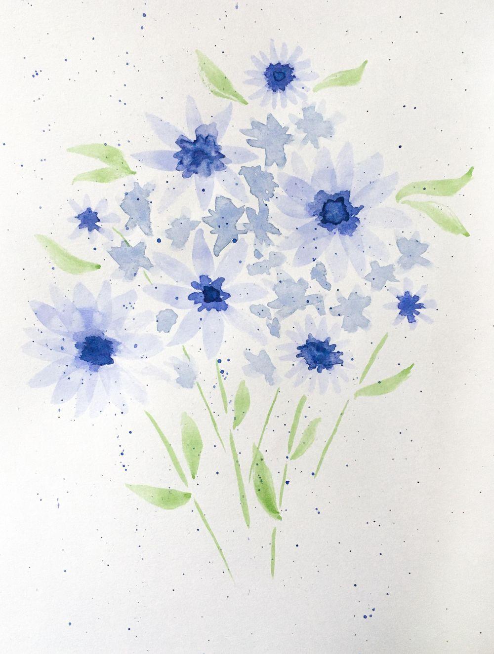 Blue flowers & lavender bouquet - image 2 - student project