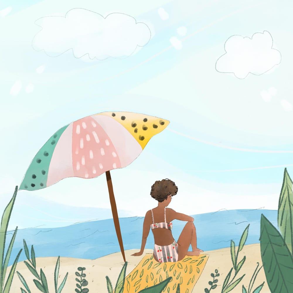 Digital Watercolor Illustration (Teacher's Sample Project) - image 2 - student project