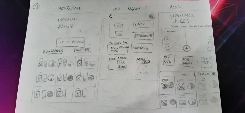 Fridge App Prototype - image 4 - student project