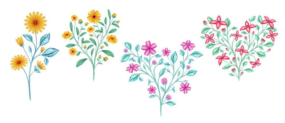 Watercolour to Digital Botanicals - image 4 - student project