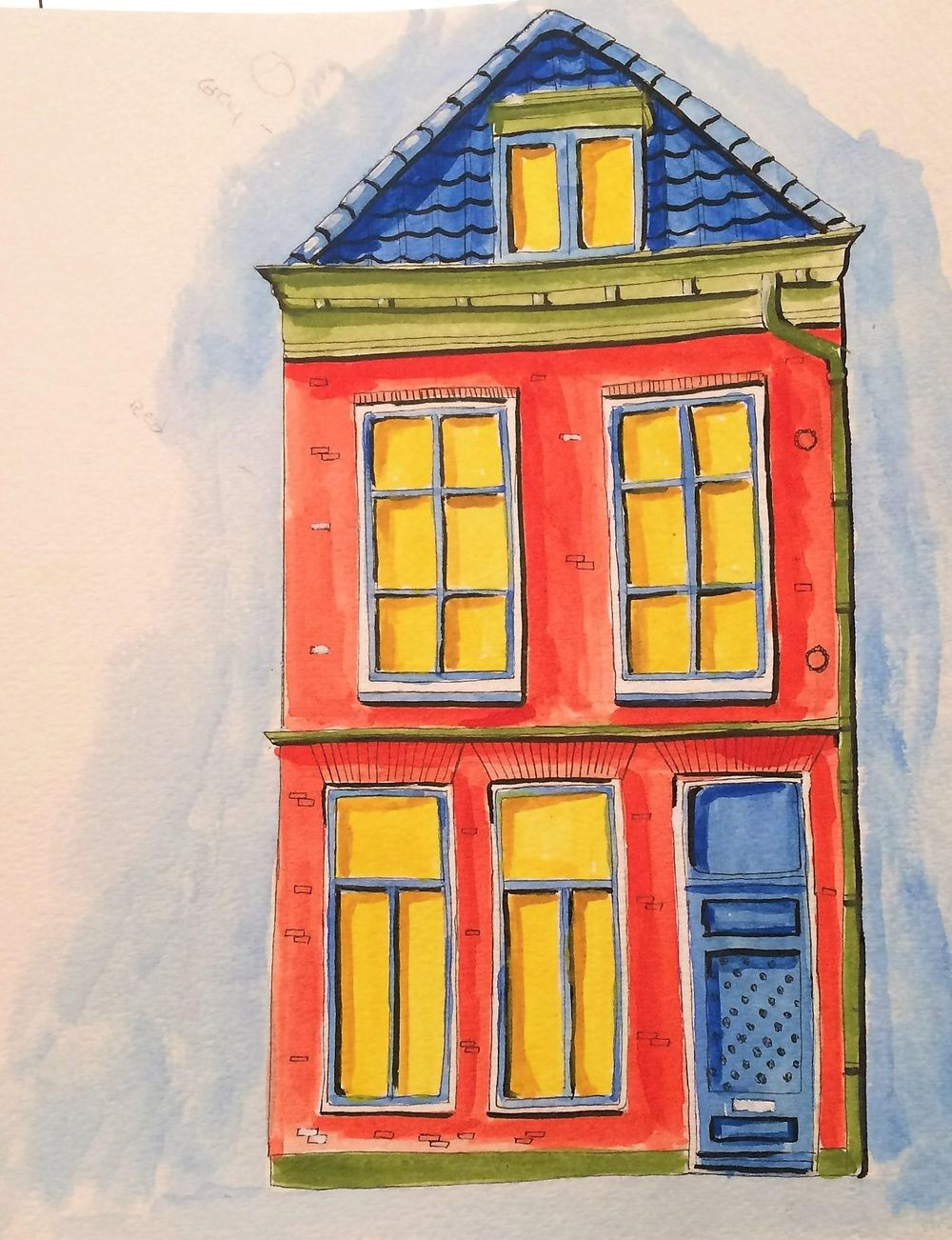 Watercolor Fun-house - image 3 - student project