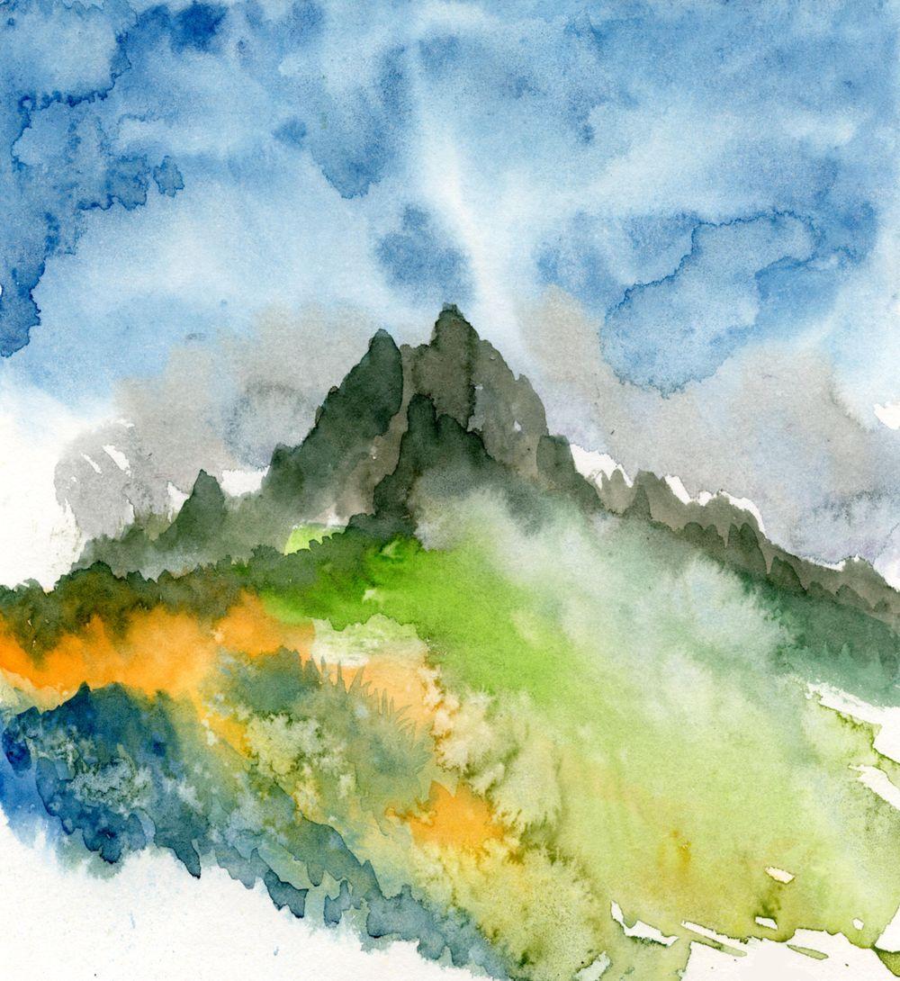 Watercolour landscape - image 1 - student project