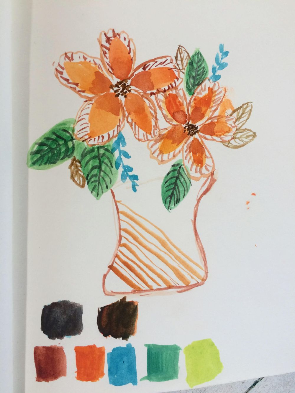 Homeschool Watercolor class - image 1 - student project