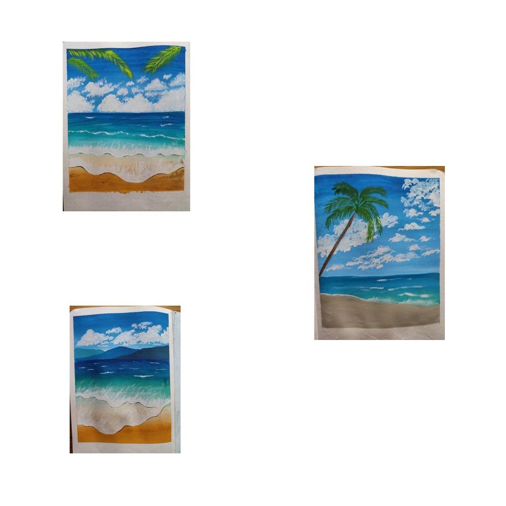 Beach landscape - image 1 - student project