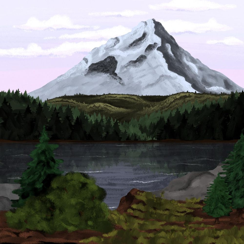Mountain and lake - image 2 - student project