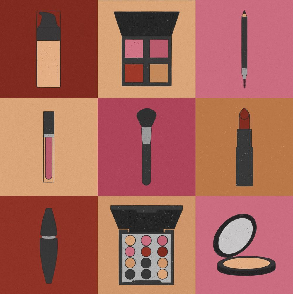 Makeup illustration series - image 1 - student project