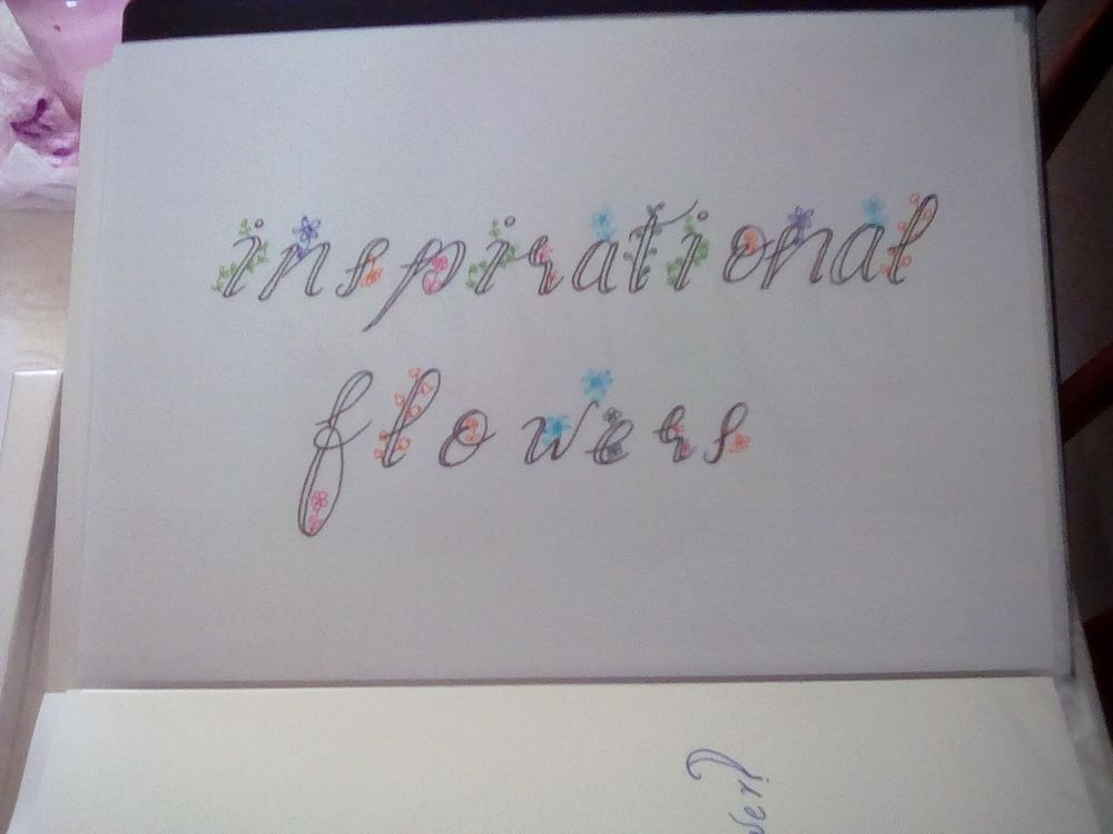 Botanical lettering - image 1 - student project