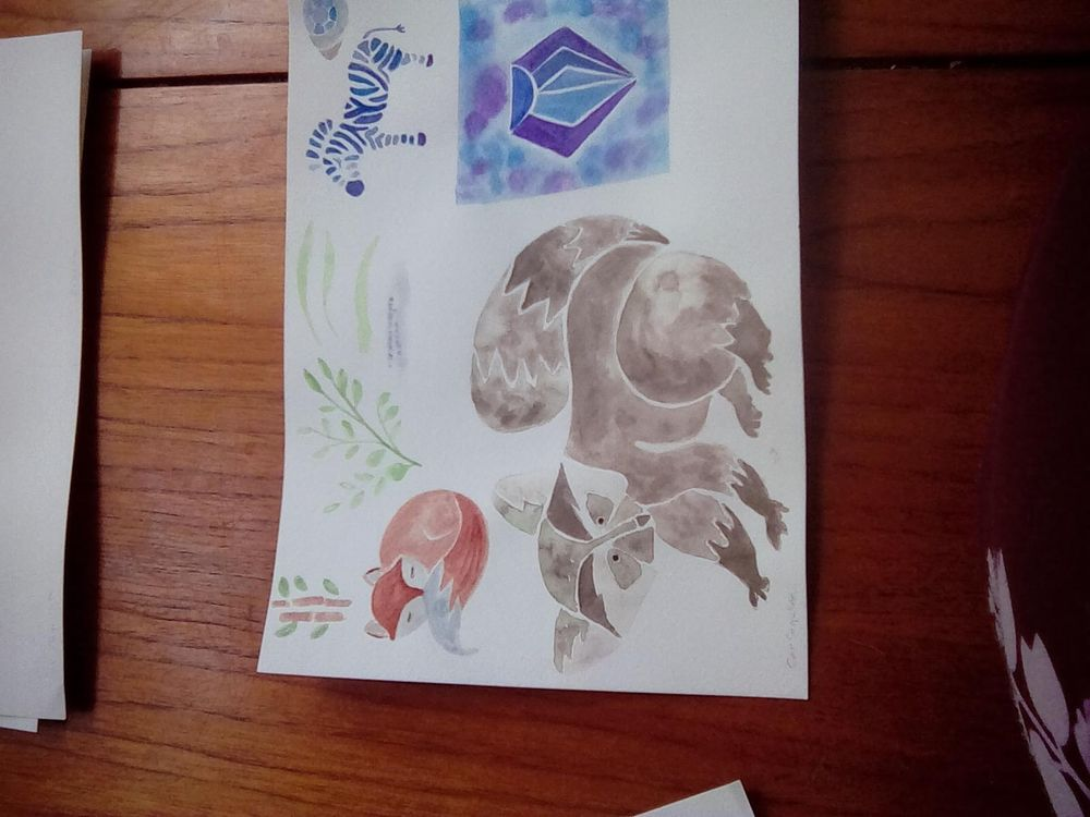 Modern watercolour - image 3 - student project