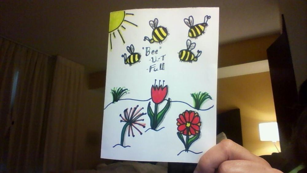 Bees     I turned mine into a greeting card. Thanks Em - image 1 - student project