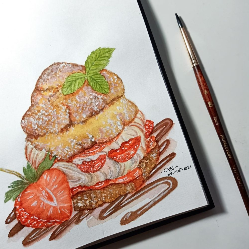 Strawberry Cream Puff Pastry - image 1 - student project