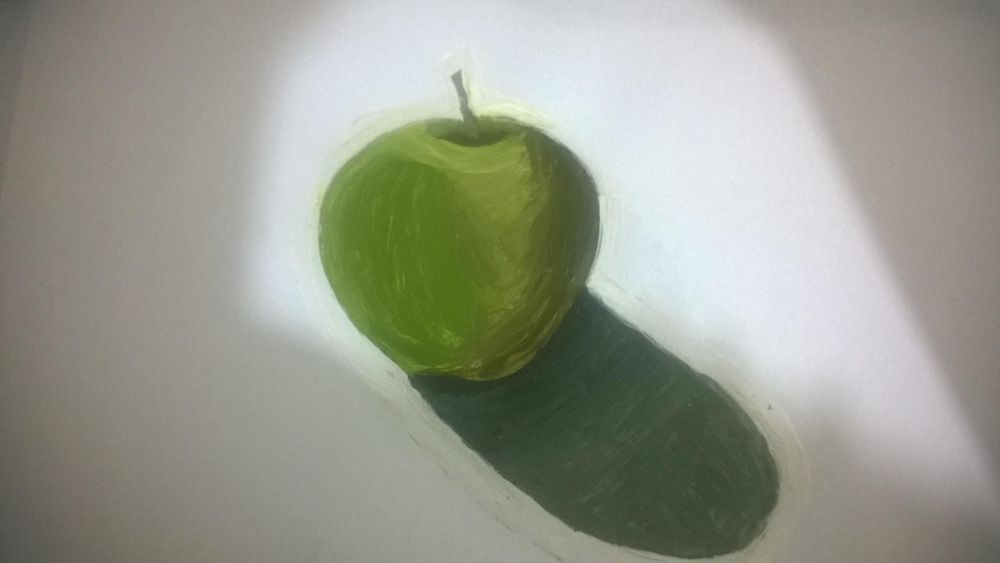 Beginner Acrylic Painting: Painting a Green Apple - image 1 - student project