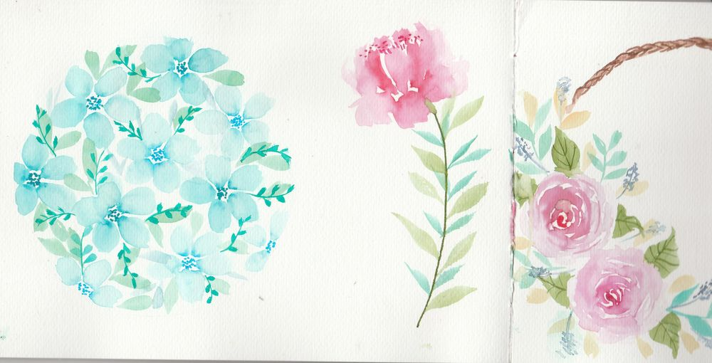 Loose Florals with Water-Based Markers - image 1 - student project
