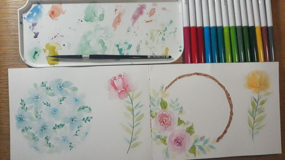 Loose Florals with Water-Based Markers - image 3 - student project