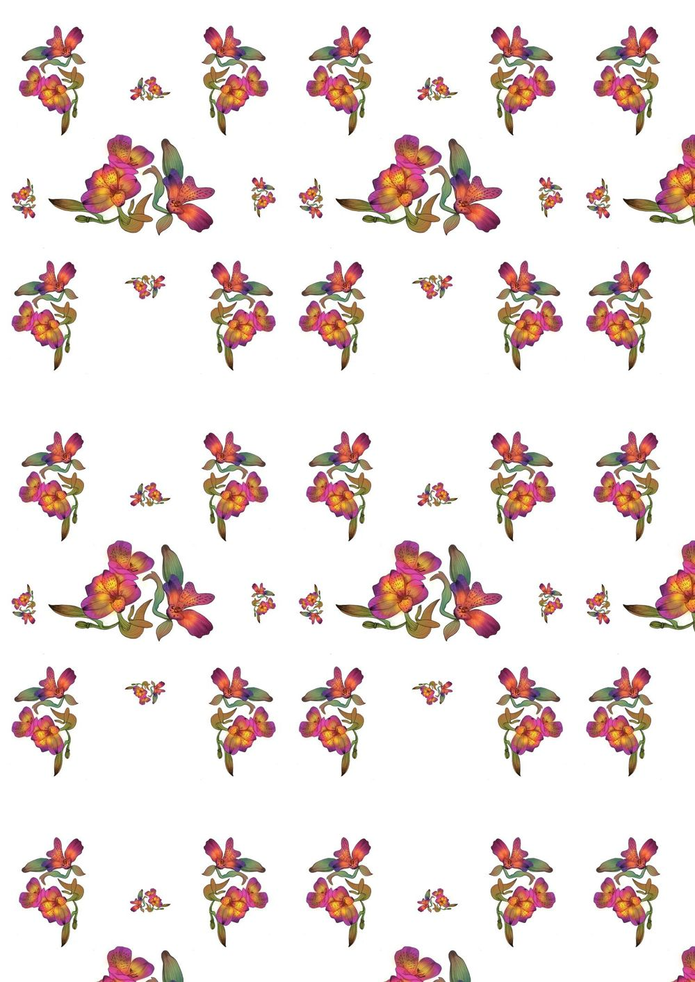 Floral wallpaper - image 1 - student project