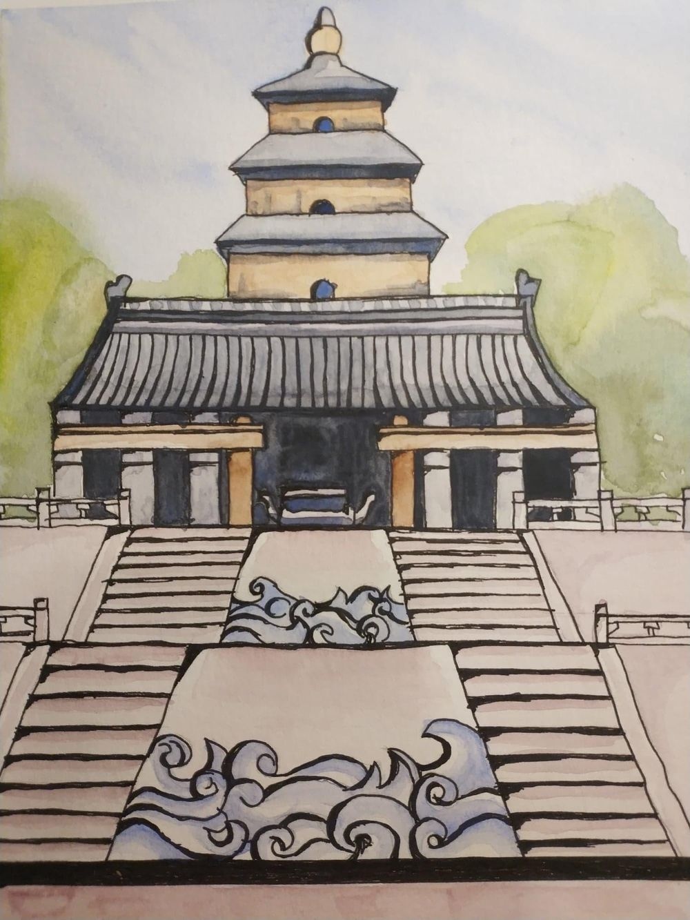 Wild Goose Pagoda - image 1 - student project