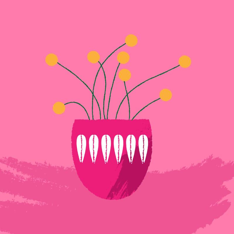 Midcentury Scandinavian in Pink - image 1 - student project