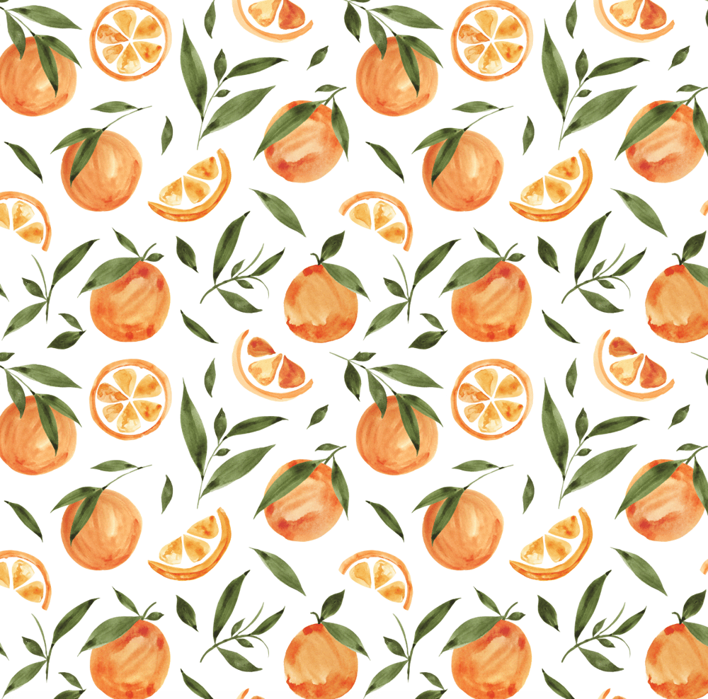 Painted Oranges Pattern - image 5 - student project