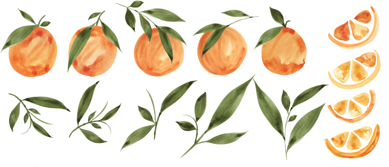 Painted Oranges Pattern - image 4 - student project