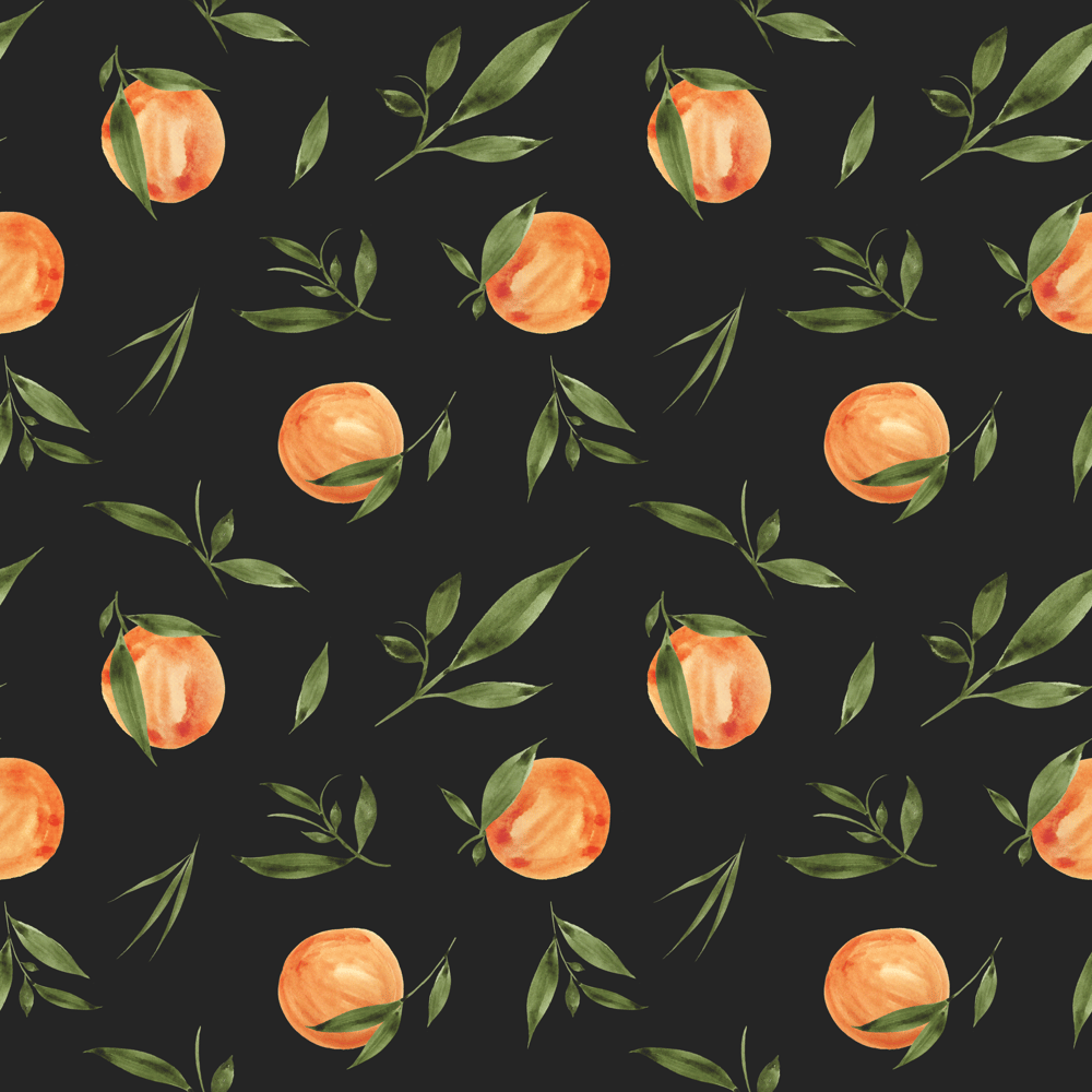 Painted Oranges Pattern - image 7 - student project