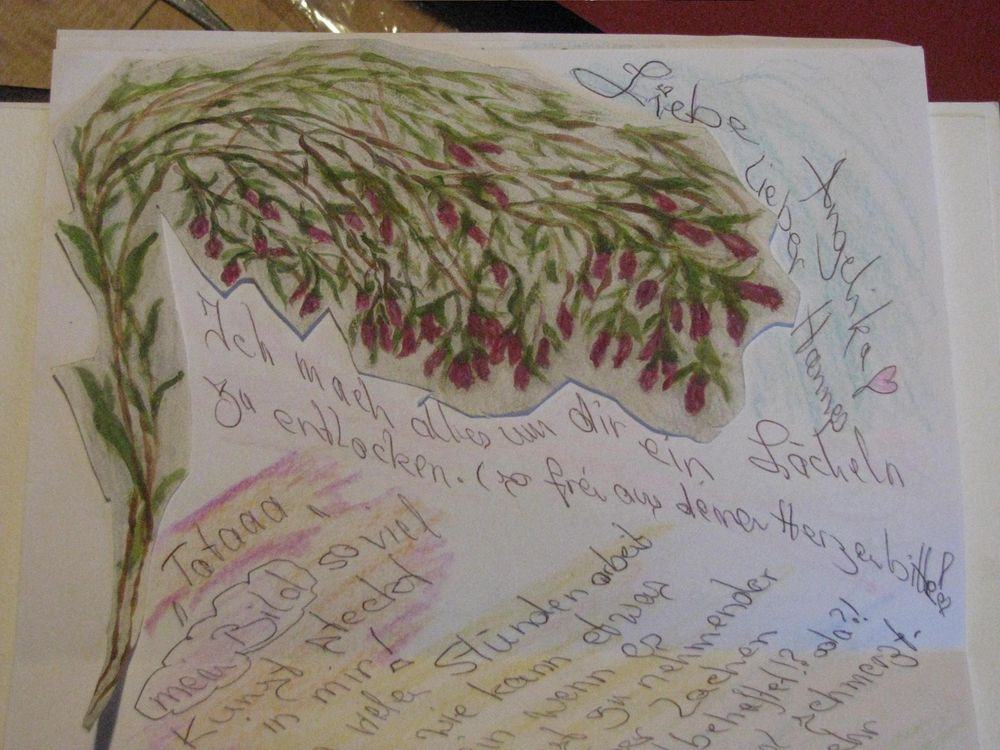 Festive Letter paper with  plants in winter - image 3 - student project