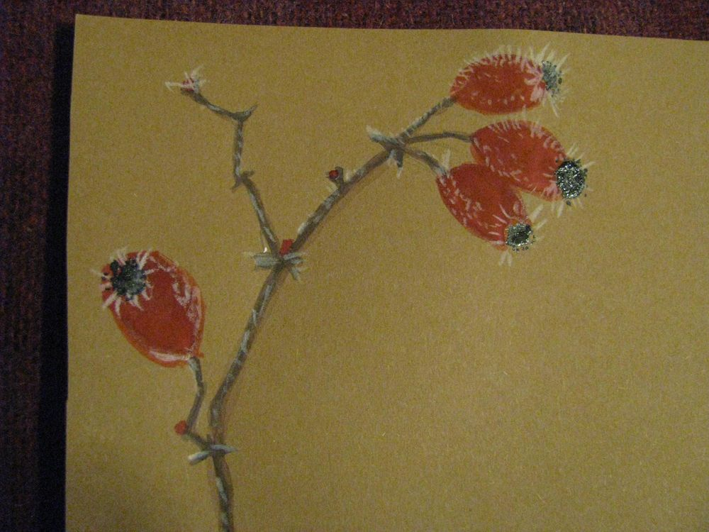 Festive Letter paper with  plants in winter - image 15 - student project