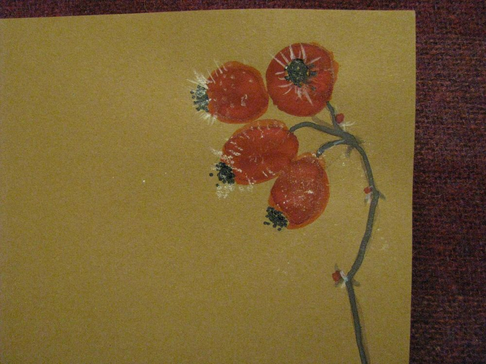 Festive Letter paper with  plants in winter - image 14 - student project