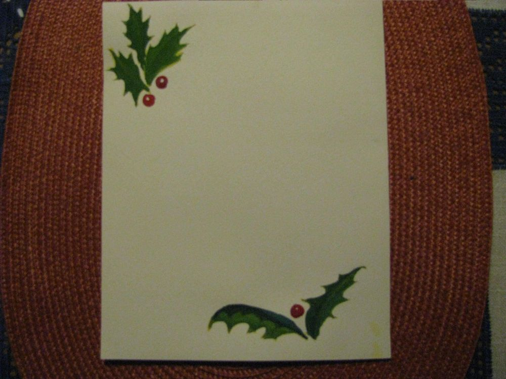 Festive Letter paper with  plants in winter - image 7 - student project